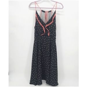 Girls From Savoy Gull Wing Polka Dot Silk Dress